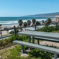View from the upper RV campsites.- Jalama Beach Campground
