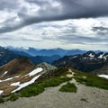 Mount Shuksan and Mount Baker.- Ptarmigan Ridge