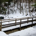 Bridge between the Lake Road and the trail to the Wolf Jaws.- The Wolf Jaws