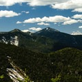 View from around the summit of Upper Wolf Jaw in early spring.- The Wolf Jaws