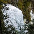 View of frozen Rainbow Falls. - Sawteeth Mountain