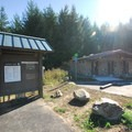 Restroom and shower facilities at Dairy Creek Camp East.- Dairy Creek Camp East + West