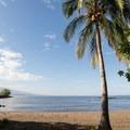 The bay in which the submerged Hale o Kapuni Heiau is located.- Pu'ukoholā Heiau National Historic Site