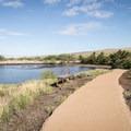 The ADA path leading through the grounds.- Pu'ukoholā Heiau National Historic Site