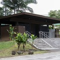 Restrooms at the parking area.- Rainbow Falls near Hilo