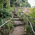 The stairs to the top of the falls.- Rainbow Falls near Hilo
