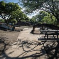 Several picnic areas offer shade.- Samuel M. Spencer Beach Park