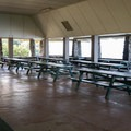 The picnic shelter can accommodate large groups.- Samuel M. Spencer Beach Park