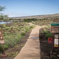 A trail from the north end of the park enters Pu'ukohola Heiau National Historic Site.- Samuel M. Spencer Beach Park