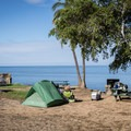 Campsites with a great view, but very little privacy.- Samuel M. Spencer Beach Park Campground