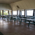 The pavilion can accommodate large groups and is available for reservation.- Samuel M. Spencer Beach Park Campground