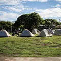 The open lawn before the pavilion works well for groups that don't require privacy or separation.- Samuel M. Spencer Beach Park Campground