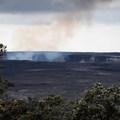 The fuming Halema'uma'u Crater in the Kīlauea Caldera, Hawai'i Volcanoes National Park.- Sulphur Banks + Crater Rim Trail Loop