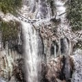 Falls Creek Falls up close in the winter.- Falls Creek Falls Snowshoe