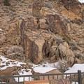 Parowan Gap Petroglyphs.- Parowan Gap Petroglyphs