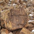 The major carvings of the western side.- Parowan Gap Petroglyphs