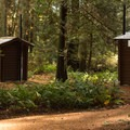 There are pit toilets spread around the campground.- Roberts Creek Provincial Campground