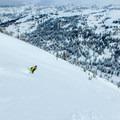 Skiing the Tetons.- Commissary Ridge Yurt Backcountry Skiing