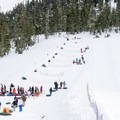 Rope tow up the tubing hill.- Hoodoo Autobahn Tubing Park