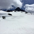 Looking up the northwest bowl.- Mount Washington Backcountry Ski: Northwest Bowl
