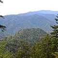 Viewpoint located about 4 miles into the hike.- Mount LeConte via Alum Cave Trail