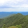 On clear days Gatlinburg can be seen from Mount LeConte.- Mount LeConte via Alum Cave Trail