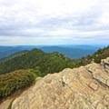 View looking east toward Gatlinburg from the summit.- Mount LeConte via Alum Cave Trail