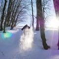 Snowshoeing in the Rifugio La Fossa.- Rifugio La Fossa Snowshoe, Monte Terminillo