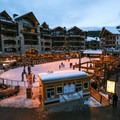 The ice rink is surrounded by a number of services, retail kiosks and amenities.- Northstar Village Ice Skating Rink