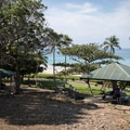 One of the smaller covered picnic areas at Hāpuna Beach State Recreation Area.- Hāpuna Beach