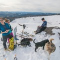 Snack-time at the top of the Fin.- White River Ski Tour