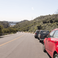 Roadside parking on Lake Hollywood Drive.- Hollywood Sign via Lake Hollywood Drive