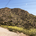 On to the dirt road.- Hollywood Sign via Lake Hollywood Drive