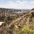 Looking back to the starting point.- Hollywood Sign via Lake Hollywood Drive