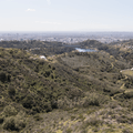 View to the southwest.- Hollywood Sign via Lake Hollywood Drive