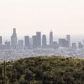 The city of Los Angeles.- Hollywood Sign via Lake Hollywood Drive