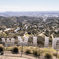 View from the summit of Mount Lee.- Hollywood Sign via Lake Hollywood Drive