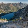 Colchuck Lake from Aasgard Pass.- Prusik Peak: West Ridge