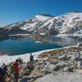 Isolation Lake and Little Annapurna. - Prusik Peak: West Ridge