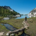 Perfection Lake is a great spot to grab water before heading up Prusik Peak.- Prusik Peak: West Ridge