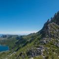 Shield Lake and Prusik Peak.- Prusik Peak: West Ridge