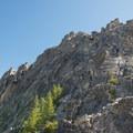 Pitch 1 on west ridge of Prusik Peak.- Prusik Peak: West Ridge