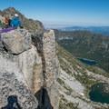 The roomy summit on Prusik Peak.- Prusik Peak: West Ridge