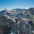 Upper Enchantments in the distance.- Prusik Peak: West Ridge