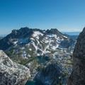 Looking south to McClellan Peak.- Prusik Peak: West Ridge