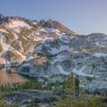 Alpenglow on McClellan Peak.- Prusik Peak: West Ridge
