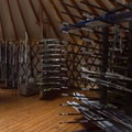 The gear rental yurt is stocked with both classic and skate skis.- Arizona Nordic Village
