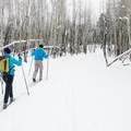 A few ski trails are set aside for classic skiing only, and they reach true solitude in the forest.- Arizona Nordic Village