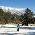 A well-earned view of the San Francisco Peaks from Porcupine Loop Trail.- Arizona Nordic Village