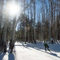 Skate skiing is a great workout and a great way to get around.- Arizona Nordic Village